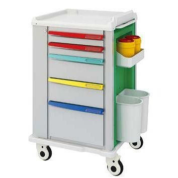 Medical Carts On Wheels with Drawers