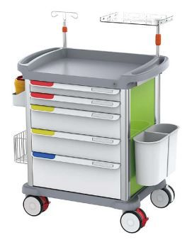 Mobile ABS Medical Trolley